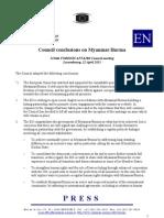 EU Council Conclusions 22nd April 2013