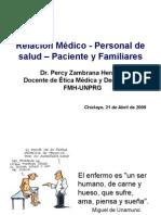 7ma. Clase Ética en la  relación Medico - personal de salud - paciente y familiares