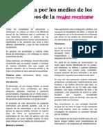 Influencia en Los Medios de Los Estereotipos de La Mujer Mexicana