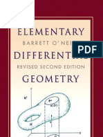 O'Neill Differential Geometry