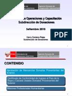 EXPOSICIÓN DONACIONES 2010