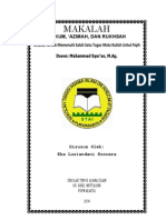 Fiqih - Hukum, Azimah, & Rukhsah
