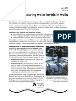 Measuring Water Levels in Wells