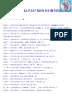 中共高官(太子党)子弟职务名单[最全面]