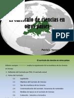 El currículo de ciencias en otros países