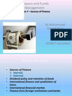 TFM Session 7 Sources of Finance
