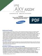 Samsung Axiom User Manual