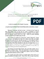 FE - Carta del Superior General de la Congregación de la Misión