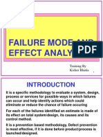 Failure Mode and Effect Analysis-FMEA