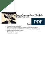 Fashion Portfolio Packet