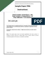 Pakistan Marine Academy Entry Test Sample Paper