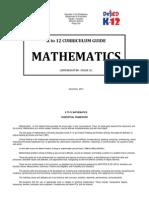 K-12 Mathematics Curriculum Guide (Complete)