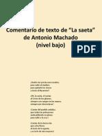 Comentario La Saeta Machado2