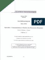 Bac Polynesie2013 STG-MathsCGRH