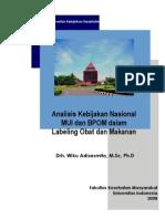 Kebijakan Nasional Mui Dan Bpom Dalam Labeling Obat Dan Makanan Edited