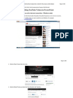 Embed YouTube in PPT