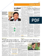 Indian Steel Firms Eye mines in Afghanistan, Mint 20 May, 2011