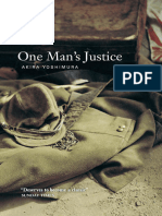 One Man's Justice - Akira Yoshimura
