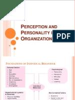 Perception & Personality