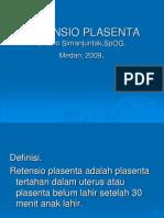 RETENSIO PLASENTA