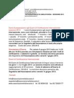 Certificato Internazionale Di Lingua Russa - Sessione 2013