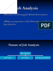 b4002Job Analysis