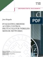 Evaluating Medium Access Control Protocol for Wsn