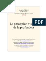 Louis Lavelle - La Perception Visuelle de La Profondeur