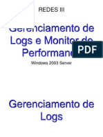 Gerenciador de Logs e Monitor de Performance No Windows Server