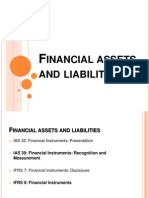 Financial Assets and Liabilities
