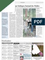 Saarbrücker Zeitung, Lokalteil Dillingen, 28.04.2009, Nalbacher Wald