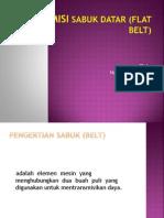 Transmisi Sabuk Datar (Flat Belt)