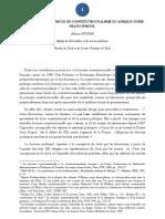 Bilan Sur Un Demi-siecle de Constitutionnalisme en Afrique Noire Francophone