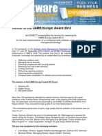 Review SAMS Europe Award 2012