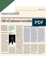 De Tijd 11/06/'13 - CD&V wil 'taxfreezone' voor Limburg
