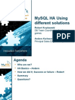 MySQL HA Using Different Solutions