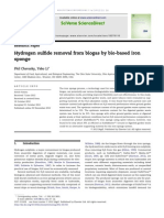 Hydrogen Sulfide Removal From Biogas by Bio-based Iron Sponge