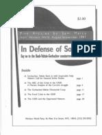 In Defense of Socialism Pamphlet