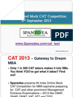 Free Online Mock CAT on 8th Sept by Spanedea