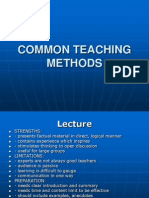 Common Teaching Methods