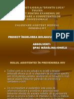 Hiv Power Point Prezentare Proiect Ingrijirea Bolnavului Cu HIV