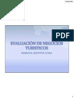 EVALUACIÓN DE NEGOCIOS TURISTICOS