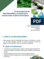 Microorganismos en la producción de biocombustibles y su