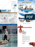Europe Group Tours Brochure 2013