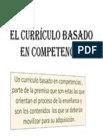 El currículo basado en competencia