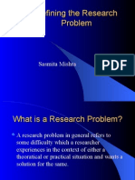 Defining the Research Problem