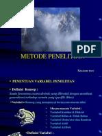 Metode penelitian Tatap Muka - M6