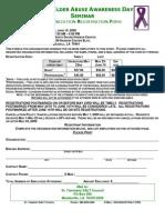 World Elder Abuse Awareness Day Seminar Organization Registration Form
