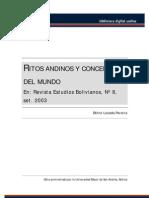 Ritos Andinos y Concepcion Del Mundo