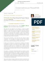 Dez Princípios Conservadores por Russell Kirk